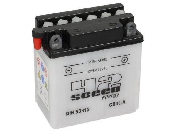 Batterie -Standard SCEED 42 Energy- CB3L-A - 12V, 3Ah - 99x56x110mm (inkl. Säurepack)