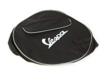 Spare wheel cover -OEM QUALITY- Vespa 2.75 - 9 - black, with pouch