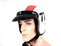 Helmet -BANDIT 777 Jet- white/red - M (57-58cm)