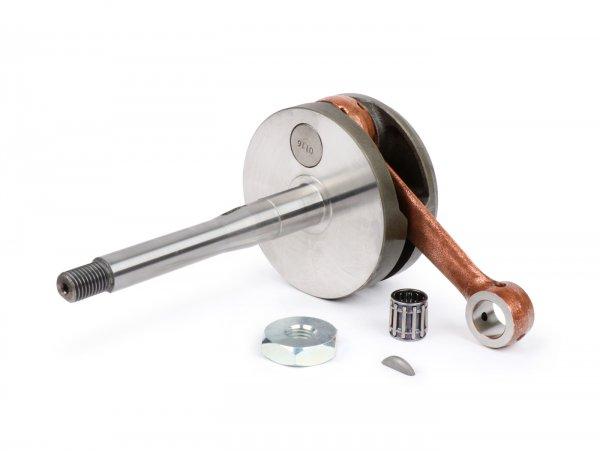 Crankshaft -MALOSSI- Piaggio Ciao, Boss, Boxer, SI, Grillo, Bravo, Superbravo, PX (43mm stroke for 10mm gudgeon pin)