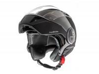 Helmet -HELMO MILANO- full jet helmet, FuoriRotta, matt black - L (58cm)