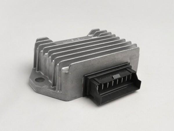 Spannungsregler -8-Pin 12V inkl. Blinkrelais- Piaggio/ Gilera 50 ccm 2-Takt (Vergasermodelle, ab Bj. 1998), Vespa S, LX, LXV, Sprint 50, Primavera 50, ET4 125ccm (ZAPM04000 ab Bj. 1998), Aprilia Mojito Retro 125 ccm (ZD4PM Piaggio Motor)