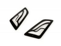 Blinkergitter -MOTO NOSTRA- Vespa GT, GTL, GTV, GTS 125-300 - vorne - schwarz glänzend