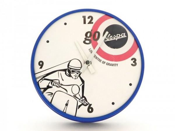 """Horloge murale rond -VESPA Ø=25cm- """"Go Vespa - Low centre of gravity"""""""
