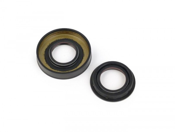 Oil seal set for crankshaft -MALOSSI PTFE/FKM- Minarelli 50 cc MA, MY, CW, CA, CY