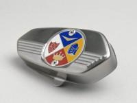 Fork link cover -CUPPINI- Vespa V50, ET3, PV125 - new AMS Cuppini emblem
