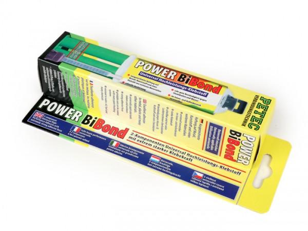 2-Komponenten Klebstoff -POWER BiBond- 24ml Doppelspritze inklusive Mischrohr - beständig gegen Öl, Kraftstoff, Chemikalien