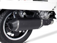 Pot d'échappement -REMUS (avec catalyseur) Ø65mm Sportexhaust- Vespa GTS 300ie SUPER (ZAPMA33) - (Euro 4, 2016-) - inox noir