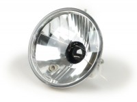 Headlight -FIEM Ø=146mm- LML Star (can be used on Vespa PX EFL) - H4, clear glass, left hand traffic