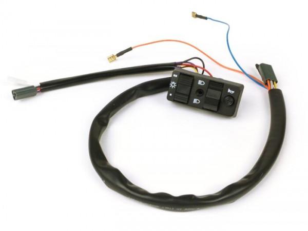 Llave de luces -GRABOR- Vespa T5 125cc - 3 cables (CA, modelos sin batería, contacto tipo NC)
