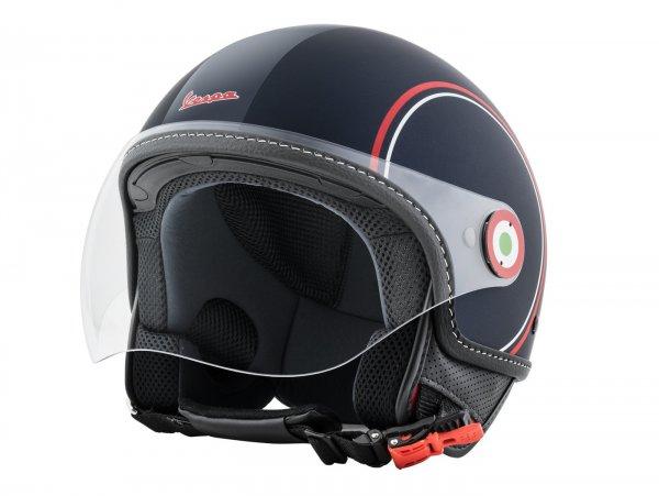 Casco -VESPA abrir casco Modernist- ABS- azul rojo blanco- L (59-60cm)