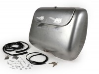 Glove box set -ULMA NANUCCI Style- Lambretta DL, GP - unpainted/bare steel (oiled)