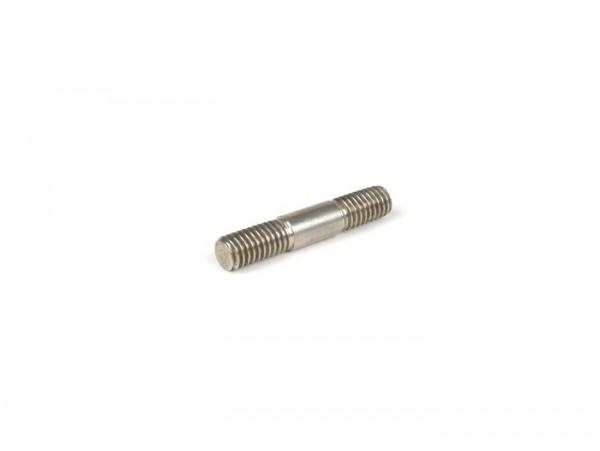 Stud -M6 x 33mm- 12-10-11mm (used for chaincase cover Lambretta LI, LIS, SX, TV, DL, GP, J50, J100, J125, Lui) - stainless steel