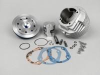 Zylinder -PARMAKIT 130 ccm SP09 Ovaler Auslass- Eloxierter CNC Zylinderkopf Vespa PV125, ET3 125, PK125