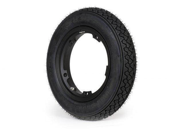 Wheel -MICHELIN S83, tubeless, Vespa Smallframe V50, PV, ET3, PK- 3.00 - 10 inch TL 42J - wheel rim BGM PRO 2.10-10 Aluminium black