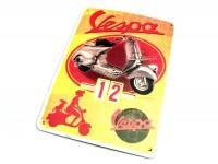 Calendario perpetuo -RETRO- Vespa, rosso-giallo