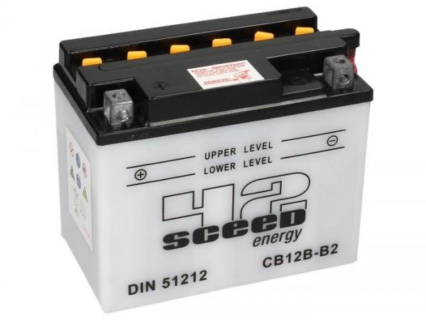 Batterie -Standard SCEED 42 Energy- CB12B-B2 - 12V, 12Ah - 161x91x132mm (inkl. Säurepack)