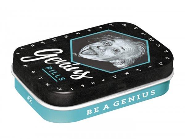 """Pillendose -Nostalgic Art- """"Einstein - Genius Pills"""" - 4x6x2cm"""