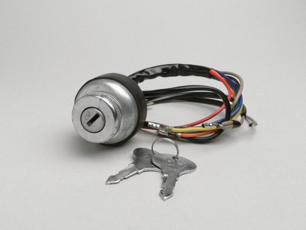 Ignition switch -LAMBRETTA- LI (series 3), LIS, SX, TV (series 2-3), DL, GP - models with battery