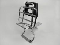 Gepäckträger mit Rückenlehne -MOTO NOSTRA- Vespa PX80, PX125, PX150, PX200 - Chrom