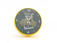 "Wall clock round -VESPA Ø=25cm- ""Find your way with Vespa"""