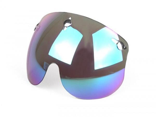 Visor for helmet -BANDIT Jet- short - mirror