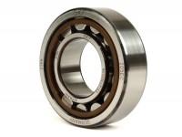 Roller bearing crankshaft -MALOSSI- NU 205 (25x52x15mm) type 1 - C3 polyamid - (used for crankshaft flywheel side Lambretta LI (series 2-3), LIS, SX, TV (series 2-3), Vespa T5 125cc, GS160 / GS4, SS180)