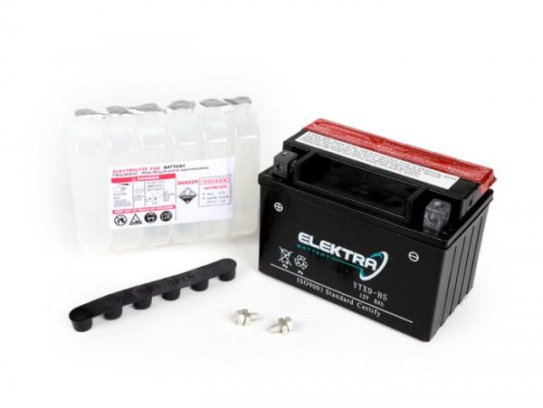 Battery -YTX9-BS- 12V 9Ah - 151x86x106mm