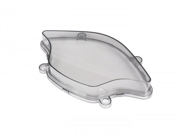 Speedo glass - POWER 1- Vespa Primavera 50, Primavera 125, Primavera 150 - transparent grey