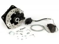 Disc brake set -GRIMECA Classic NT Ø=16mm- Vespa PX (till 1982) - semi hydraulic - black