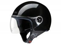 Helm -FM-HELMETS RS11V (Made in Italy)- Jethelm schwarz -