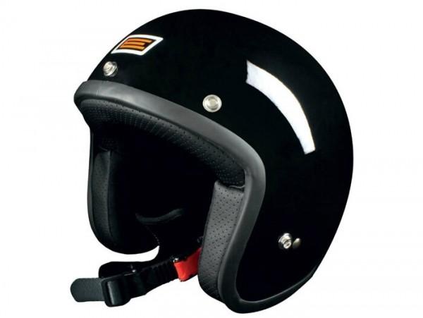 Helm -ORIGINE Primo- Jethelm  schwarz - L (59-60cm)