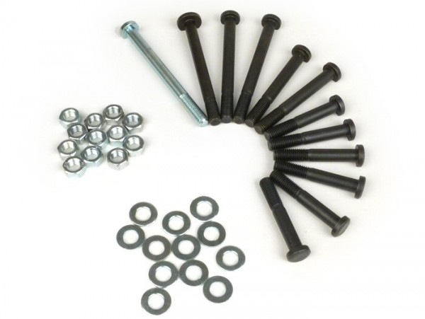 Engine casing bolt set -OEM QUALITY- Vespa V50, V90, PV125, ET3, PK S, PK XL, PK XL2 - 12 bolts