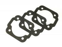 Gasket set for cylinder base -POLINI cast iron 133cc- Vespa PK80, PK125, PV125- 0.25mm/0.50mm/0.75mm
