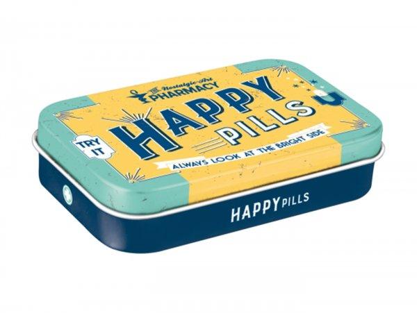 "Pillendose, XL -Nostalgic Art- ""Happy Pills"" - 6x9.5x2cm"