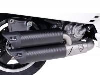 Pot d'échappement -REMUS (avec catalyseur) Ø65mm RSC Dual Flow- Vespa GTS 300ie SUPER (ZAPMA33) - (Euro 4, 2016-) - carbone