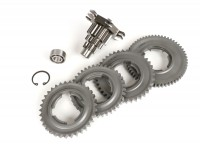 Gearbox -BENELLI type GPX- Vespa PX125, PX150, PX200, T5 125cc, Cosa, Rally  - 12/55, 12/38, 16/38, 16/34 teeth - extra short