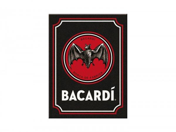 "Magnet -Nostalgic Art- ""Bacardi - Logo Black"" - 6x8cm"