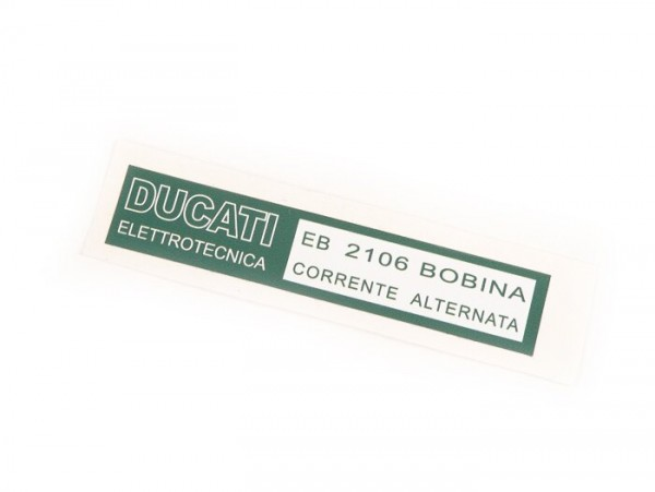 Aufkleber für Zündspule -LAMBRETTA- Bobina Ducati - LI (Serie 3), LIS, SX, TV (Serie 3), DL, GP, J50, J100, J125