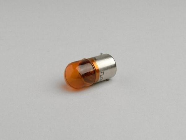 Birne -BA15s (Stifte gerade) - 12V 10W - Orange
