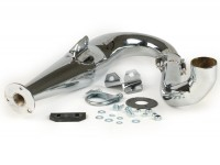 Exhaust (only body without silencer) -PM TUNING PM20 Evolution- Vespa PX200, Rally200 - chrome