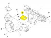 Brake master cylinder cover -PIAGGIO- Vespa GT L 125 (ZAPM31101), GT L 200 (ZAPM31200), GTS 125 (ZAPM31300), GTS 250 (ZAPM45100, ZAPM45101), GTS 300 (ZAPM45200, ZAPM45202), GTS i.e. Super 125 (ZAPM45300, ZAPM45301), GTS i.e. Super 300 (ZAPM45200, ZAP