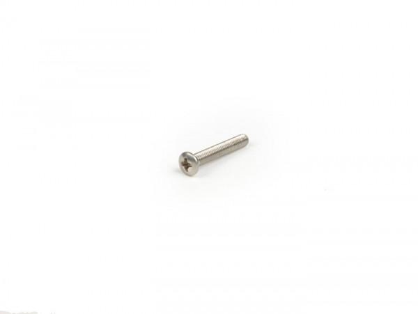 Schraube -DIN 966, ISO 7047- M3 x 20mm Edelstahl - verwendet für Scheinwerferzierring Lambretta Serie 3 Li, LIS, SX, DL, GP
