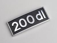 Badge de tablier -LAMBRETTA- 200 DL - DL 200