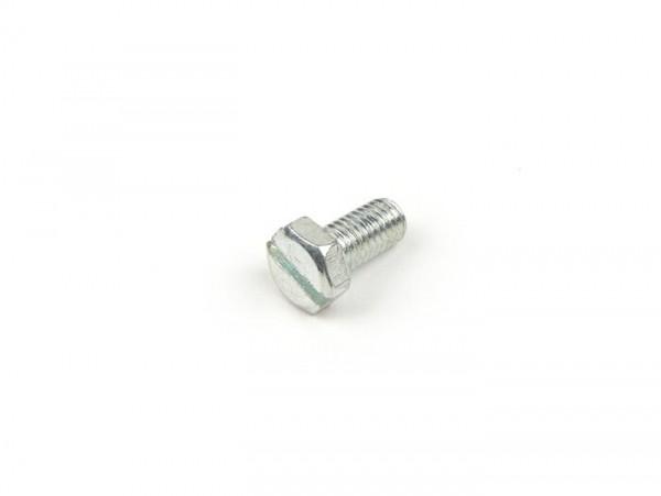 Tornillo hexagonal con ranura -M5x10mm- (para tapa cubre ventilador y tapa deflector cilindro Lambretta LI, LIS, SX, TV, DL, GP, Lui, J)