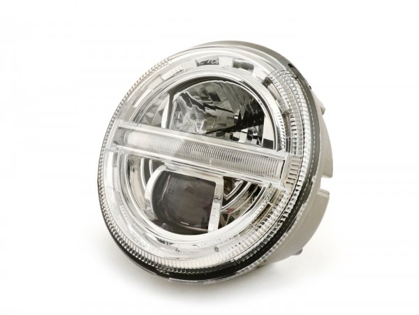 Scheinwerfer -HD CORSE- LED HighPower - GTS i.e. Super 125-300 - (-2018, auch passend für GT, GTS, GTL)