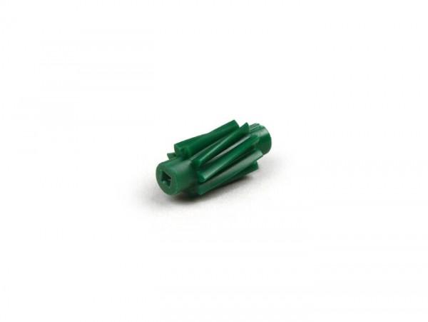 Tachoschnecke -OEM QUALITÄT- 9 Zähne, l=26mm 2,7mm Vierkant (verwendet in Piaggio Hexagon EXS1T- EXV1T)