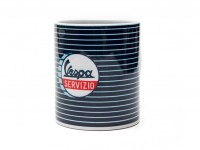 Tasse - Kaffeebecher -FORME- Vespa, Servizio - blau gestreift