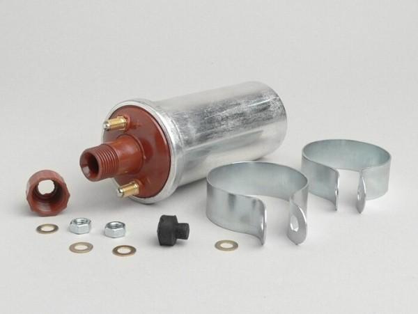 Zündspule -CEAB 6Volt- Lambretta LD 125 (ab Bj. 1956), LD 150, D 150, LI, LIS, SX, TV, DL, GP, J, Vespa V50 Elestart (V5B2T, V5A3T) - Metallgehäuse (Kontaktzündung)
