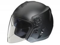 Helmet -FM-HELMETS RS41 (Made in Italy)- open face helmet flat black - M (57-58 cm)
